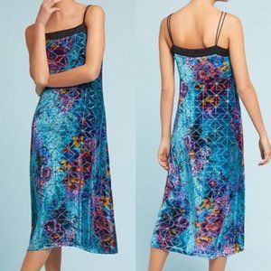 NEW Anthropologie Velvet Lange Slip Dress 0